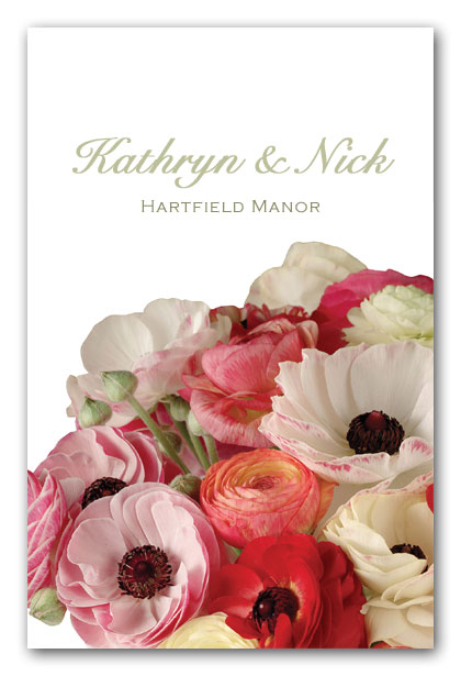 Bright Ranunculus Wedding Invitation
