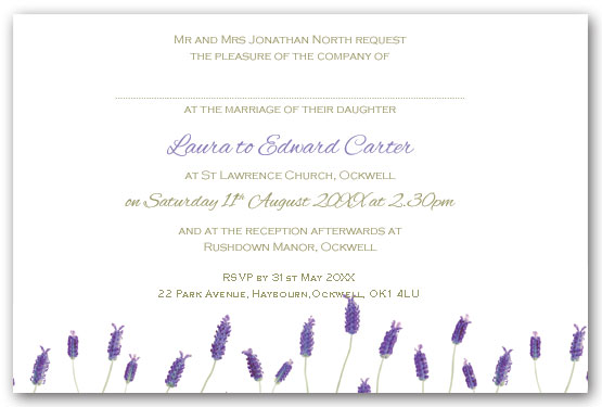 French Lavender invitation postcard