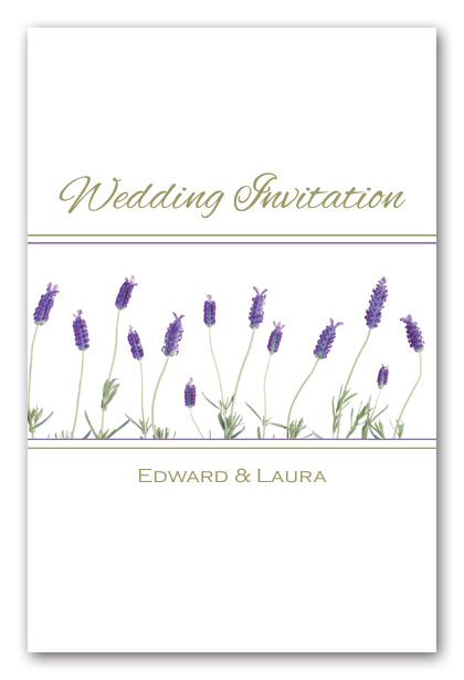 French Lavender Wedding Invitation