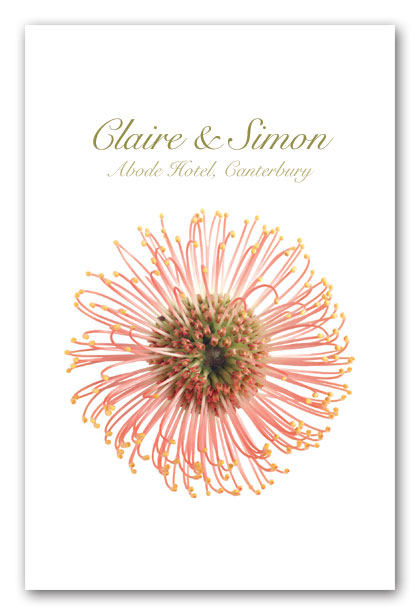 Protea wedding invitation