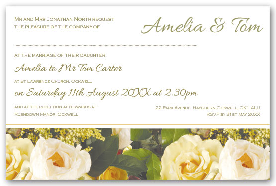 Rose Bouquet invitation postcard