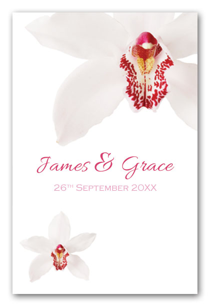 White moth orchid wedding invitation