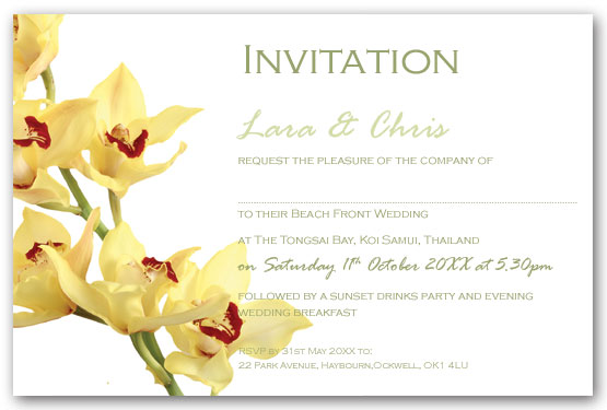Orchids Invitation postcard