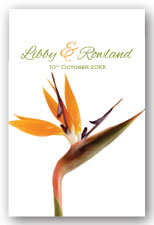 Bird of Paradise Invitation