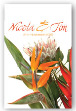 Exotic Bouquet Invitation