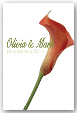 Mango Calla Lily Invitation