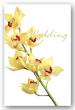 Yellow Orchid Invitation