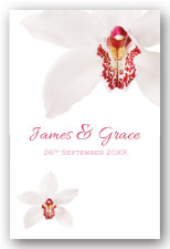 White Orchid Invitation