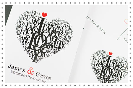 Heart  design wedding invitation