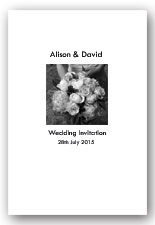 Monochrome flower wedding invitation
