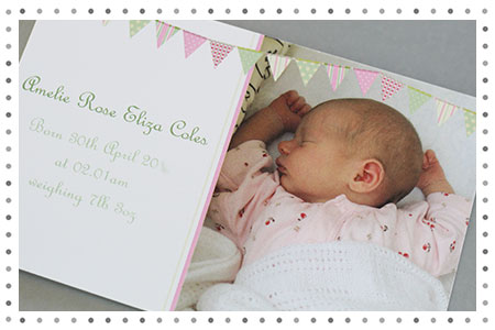 Baby Girl Arrival Announcement Postcard