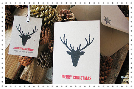 Bespoke Christmas card tags and cards