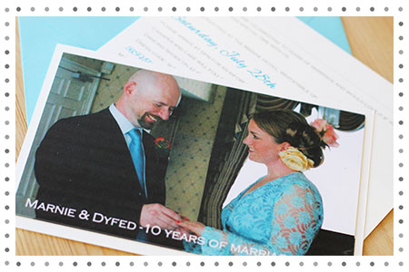 10 years wedding renewal of vows invitation