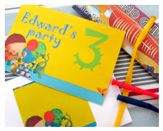 Children's birthday  party invitations from Millbank and Kent