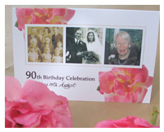 90th birthday invitations from Millbank and Kent