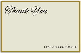 Kraft Vintage Thank you card Postcard