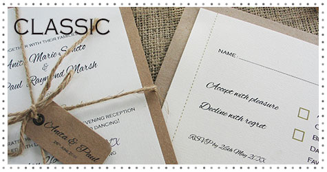 Classic wedding stationery to match your colour scheme.