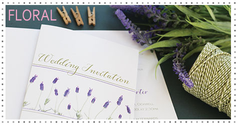 Flower Floral  wedding  stationery