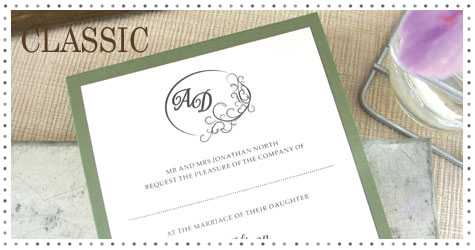 Simple wedding stationery to match your colour scheme.