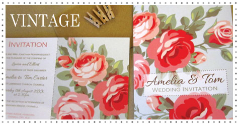 Vintage style wedding stationery collection