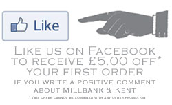 Like us on Facebook and write a comment  to receive £5.00 off your order