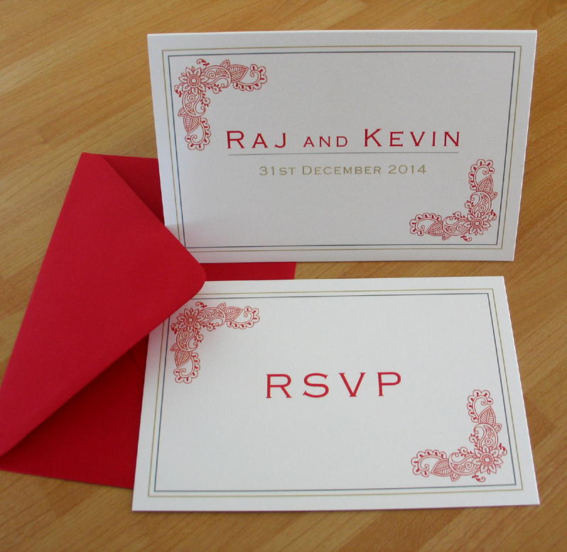 Contemporary Indian Themed Wedding Stationery from Millbank and Kent