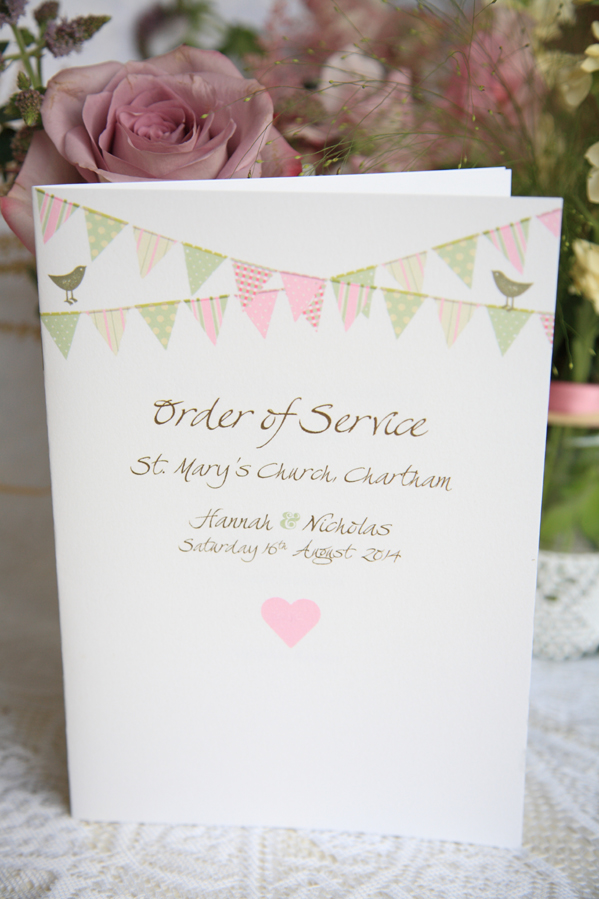 Faye Wedding Invitation, Millbank and Kent