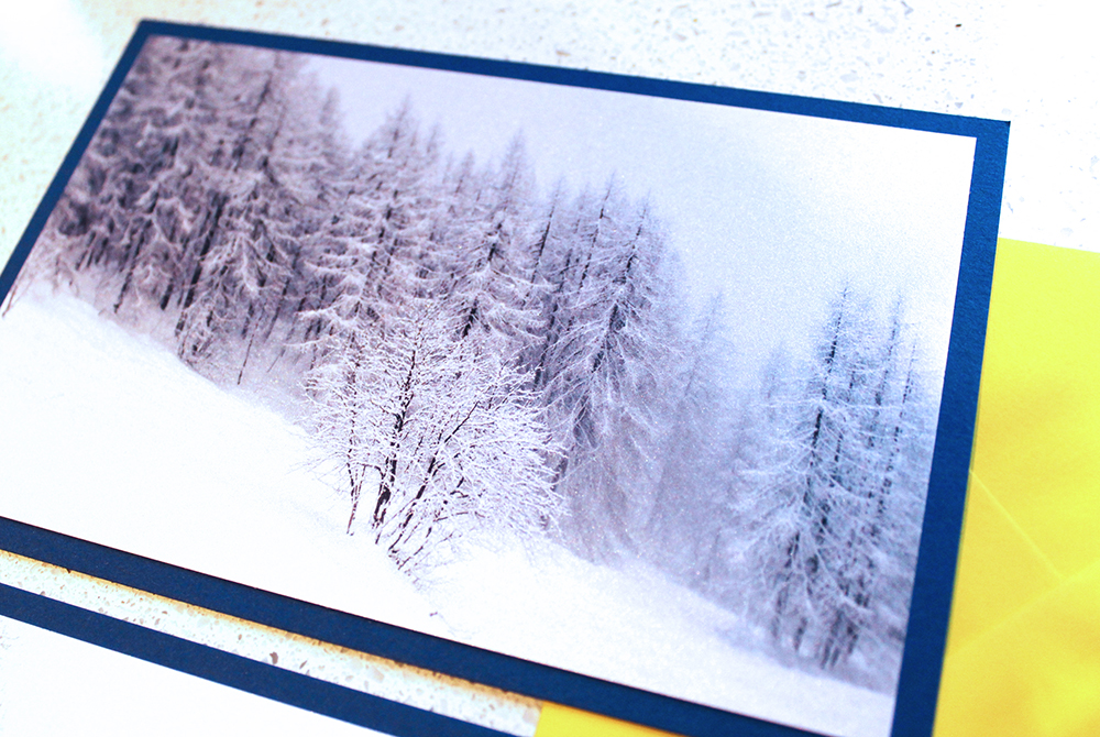 French Alps christmas cards