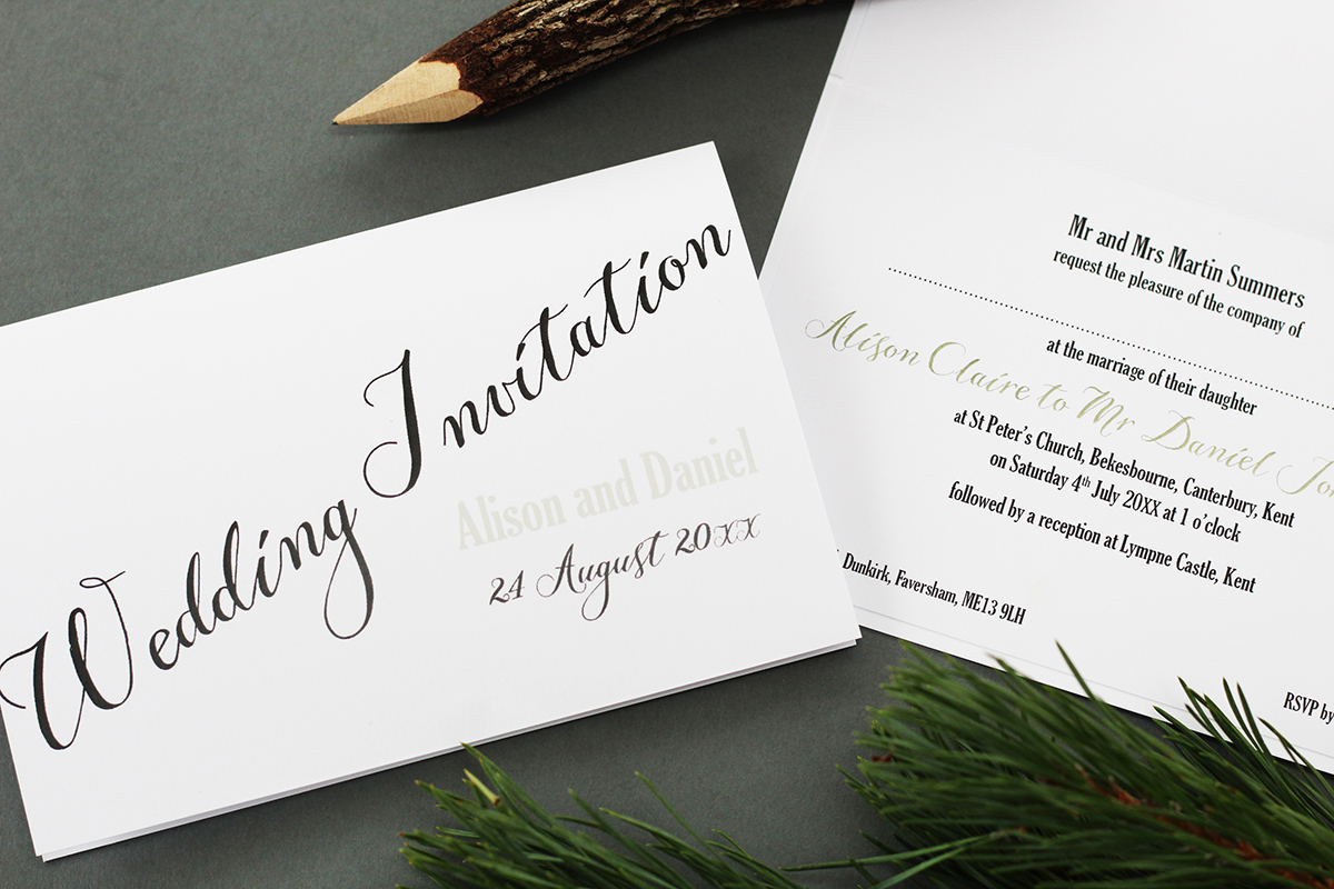 Congratulations from Millbank and Kent Wedding Stationery